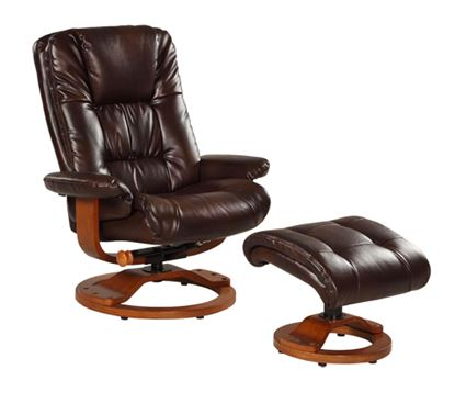 Picture of RECLINER ESPRESSO BONDED LEATHER WALNUT FINISH