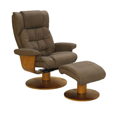 Picture of NUBUCK RECLINER w/ BONDED LEATHER