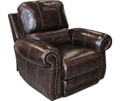 Thurston Havana Leather Recliner (MTHU#812PH-HA) by Parker House furniture