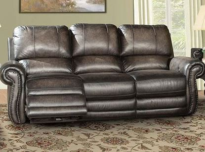 Thurston Shadow Leather Sofa - MTHU#832P-SH by Parker House furniture