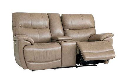 Brookville Leather Sofa (3713-SOFA) in a Mushroom leather
