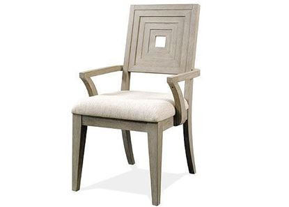 Cascade Upholstered Wood Back Arm Chair 73458 by Riverside furniture