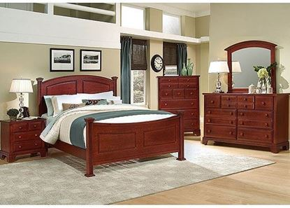 Hamilton Franklin Bedroom Collection with Panel Bed in a Cherry finish
