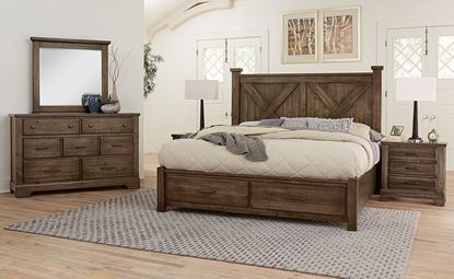Cool Rustic Bedroom Collection with Xbed in a Mink finish from Artisan & Post