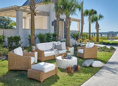 Laconia Wicker Patio Suite from Universal furniture