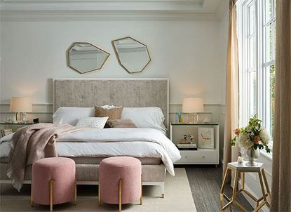 Miranda Kerr Bedroom Collection with the Theodora Upholstered Bed
