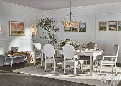 Miranda Kerr Formal Dining Collection with the Marion dining table
